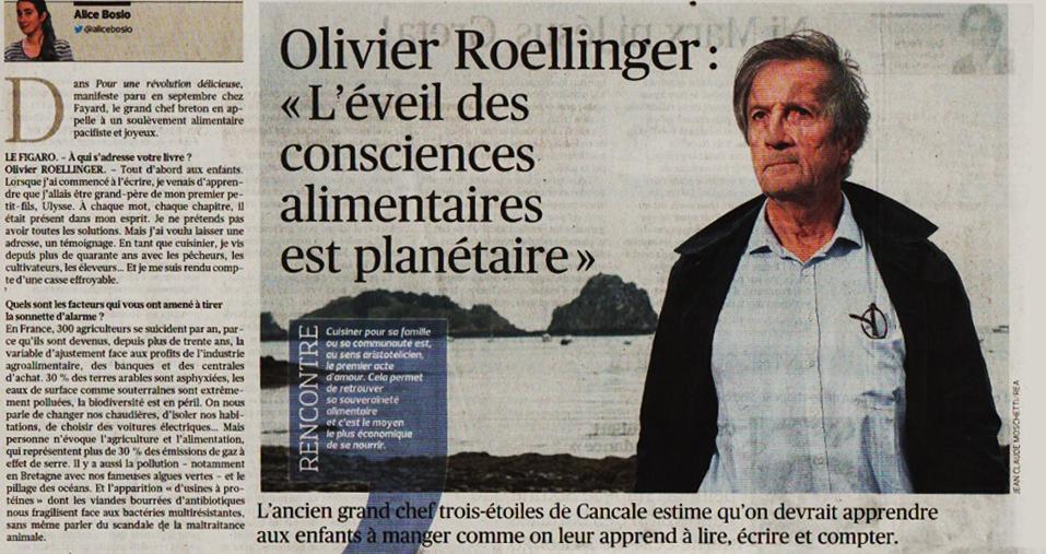 Olivier Roellinger : L'éveil des consciences alimentaires est planétaire